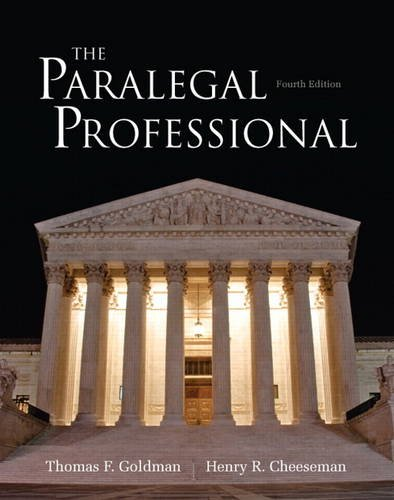 The Paralegal Professional (4th Edition)