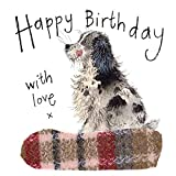 Alex Clark - Tarjeta de felicitación de cumpleaños con perro Spaniel