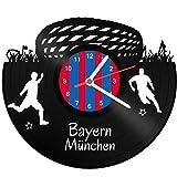 GRAVURZEILE Schallplattenuhr Bayern München - 100%