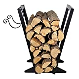 Firewood Rack Indoor (22-Inch/Black) Heavy Duty...