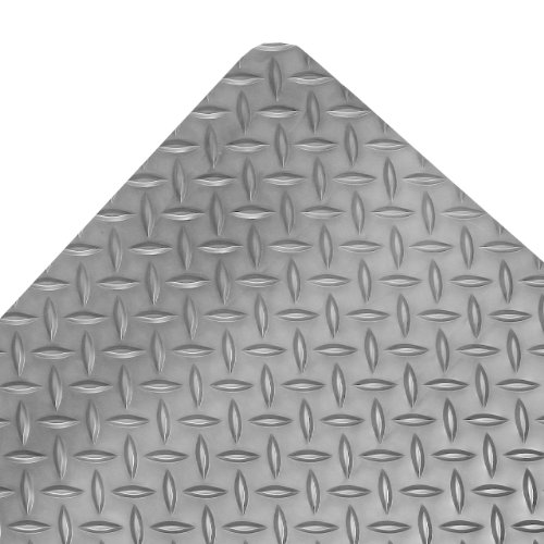 Notrax - 979S0023GY NoTrax Vinyl 979 Saddle Trax Grande Anti-Fatigue Mat, for Dry Areas, 2' Width x 3' Length x 1