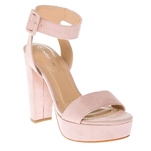 14f13c326e7 CALICO KIKI Women s Shoes Buckle Ankle Strap Open Toe Chunky High Heel  Platform Dress Sandals