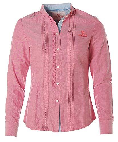 St. Moritz Damen Langarm Bluse Shirt Biesenbluse Mandarinkragen Antique Rose 36