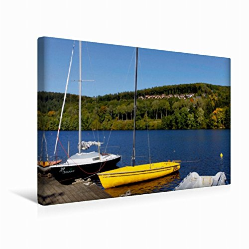Premium Textil-Leinwand 45 x 30 cm Quer-Format Kronenburger See   Wandbild, HD-Bild auf Keilrahmen, Fertigbild auf hochwertigem Vlies, Leinwanddruck von Udo Haafke