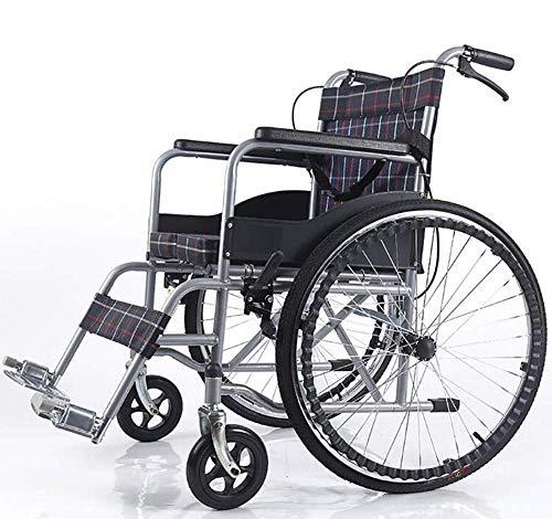Lichtgewicht Ouderen Rolstoel Comfortabele Armsteun Rugzakken Ergonomisch Vervoer Medisch Aluminium Gehandicapten Ouderen Travel Cart, Y-L