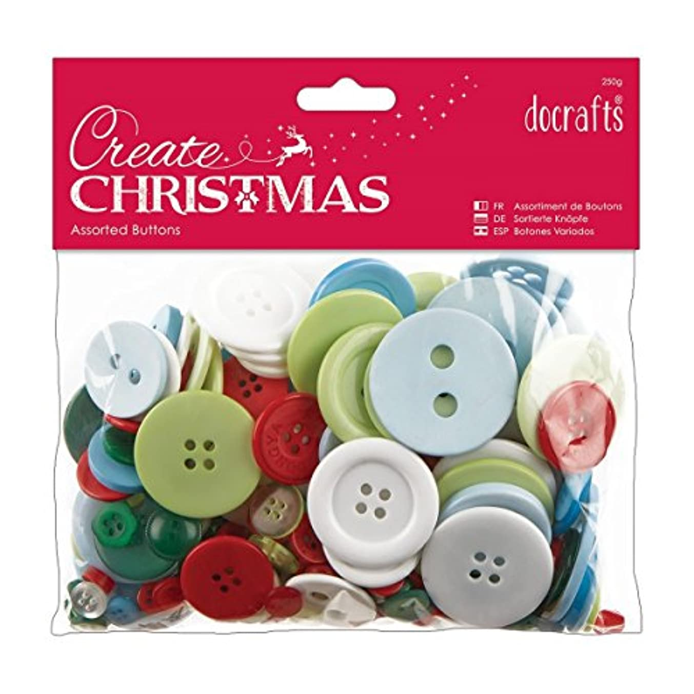 Docrafts Papermania Traditional Christmas Create Christmas Assorted Buttons