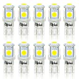 BeiLan T10 LED Bombillas W5W 168 194 2825 501 5SMD 5050 6000K LED Lámpara de ...