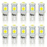 BeiLan 10PCS T10 LED Ampoules de Voiture, Lampe W5W 194 168 501 2825 6000K 5050 Chipset, Lampe de Remplacement...