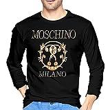 M-o-sc-h-ino Logo Camisetas de manga larga para hombre