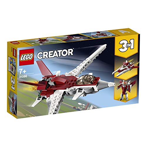 LEGO 31086 Creator Futuristic Flyer, Spaceship and Robot 3 in 1 Building Set, Vehicle Toys for Kids 7 Years Old and Older