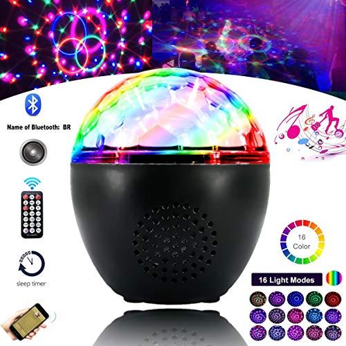 Anpro LED Discokugel USB-Disco-Lichter Discolicht in 16 Farben, Discolicht RGB-Modi Lichteffekt mit Bluetooth-Lautsprecher und Fernbedienung...