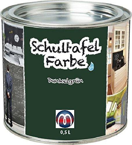Tafelfarbe/Schultafel-Lack 0,5 L Dose - Tafel-Lack Wandtafelfarbe Kreidefarbe, Farbe:grün