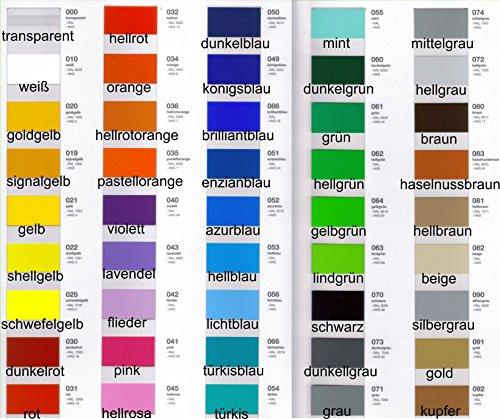 Dinger-Design Klebefolie HOCHLEISTUNGSFOLIE Fliesenfolie Plotterfolie Möbelfolie Wunschfarbe 63 x 100cm je Laufmeter (glänzend)