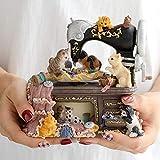 Cat Music Box Retro Mini Cat Machine à Coudre Style Plastique Boîte à Musique Décoration de Table Jouets for Enfants Cadeaux JIAJIAFUDR