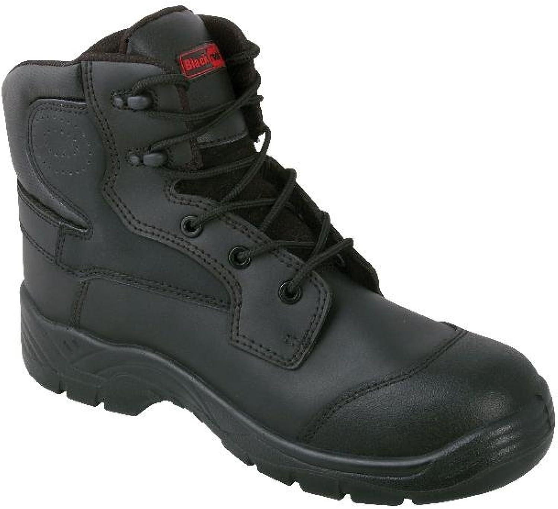 Alexandra Blackrock STC-FW523BK-13 Composite Boot, Plain, Leather, Size  13, Black