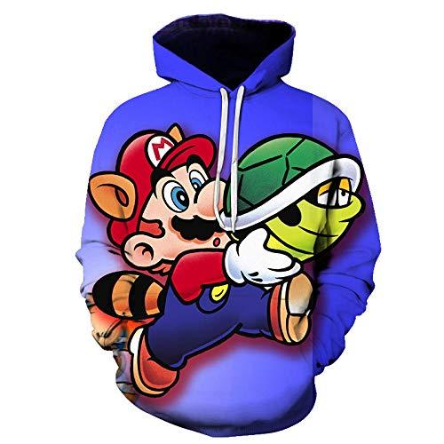 3D Child Unisex Men Hoodie Classic Game Super Mario Bros. 3D Printing Children S Cartoon Sweatshirt Fashion Casual Coat Hoodie Sweater Jacket-A_6XL