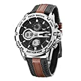 FEICE Reloj de Cuarzo para Hombre Reloj de Pulsera de Hombre Reloj Deportivo Multifuncional Ø48mm FK035