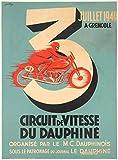 Grenoble 1949 Poster für Motorrad, Delphine, Reproduktion,