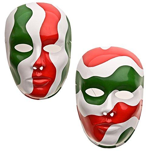Carnival 00172 – Masque Visage Grand Tricolore modèles Assortis