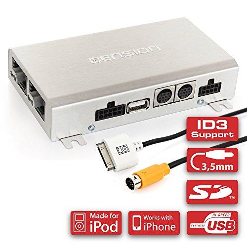 DENSION Gateway 500 GW51MO2 (geeignet für iPhone, iPod + USB + AUX) kompatibel mit Aston Martin, Audi, BMW, Mercedes, Mini, Porsche, Saab, VW & Volvo