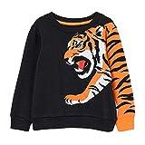 CM-Kid Sudadera para niño de manga larga, algodón, cálida, 1-7 años, 92-122 1- Tigre Negro Clásico