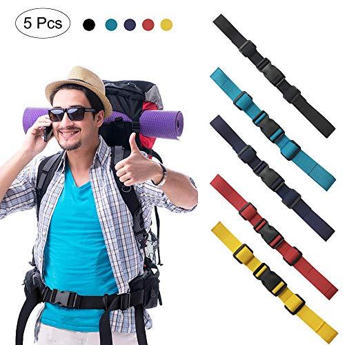 5 Stück Brustgurt für Rucksack, Verstellbarer Brustgurt, Heavy Strapazierfähiger Brustgurt, Nylon Verstellbarer Brustgurt für Den Rucksack Brustgurt Zum Jogging und Wandern außerhalb