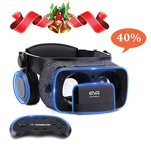 Ultralight Virtual Reality Headset with Stereo Headphones