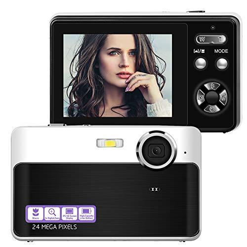 Compactas Cámaras Digitales FHD 1080P Camara de Fotos 24M Compacta Cámara con pantalla LCD de 2.4 pulgadas Cámara para fotografía, perfecto para niño