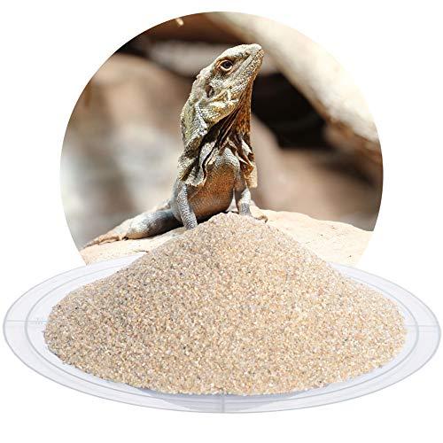 Schicker Mineral Terrariumsand Terrariumkies beige im 25 kg Sack, hochrein, kantengerundet, (0,5-1,0 mm)