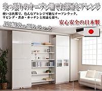 壁面突っ張り収納ラック 120幅6段タイプ 【NJ-0249 ナチュラル】