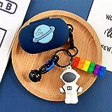 Xpccj Caja para auriculares con diseño de astronauta de silicona para Samsung Galaxy Buds/Buds Plus con Bluetooth, caja de carga para Galaxy Buds y accesorios para auriculares (color azul cielo)