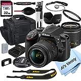 Nikon D3400 DSLR Camera with 18-55mm VR Lens + 32GB Card, Tripod,...