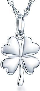 Unendlich U Love Eternal - Ciondolo a forma di quadrifoglio, in argento Sterling 925, per uomo/donna/coppia, regalo per la persona amata.
