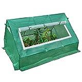 Serres Promenade en Serre, Grande Usine De Patio en Plastique Hiver Jardin Tente Verte Maison Chaude avec Fenêtre Roll-Up, 140g / M², 1,8 M × 1.42m × 0,98