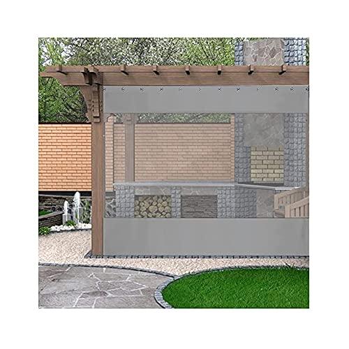 SHIJINHAO Tela Cerata da Cucire, Tende Divisorie Trasparenti con Perforazioni, Pannello Impermeabile di Giunzione Trasparente per Esterni, Usato per Giardino (Color : Gray, Size : 1x2.5m)