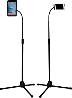 90-170cm Adjustable Phone Tripod Floor Stand/Holder/Mount, Selfie Stick with Flexible Gooseneck for Phone and iPad/Tablet ...