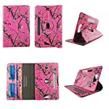 wirlesspulse Camo Tail Deer Tablet case 10 inch for Universal 10' 10inch Android Tablet Cases 360 Rotating Slim Folio Stand Protector pu Leather Cover Travel e-Reader Cash Slots
