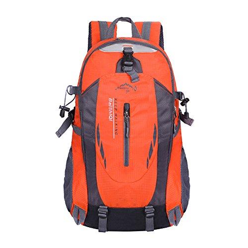 MiCoolker Waterproof Outdoor Back Packs Large Capacity Sports Mountaineering Backpack Leisure Travel Shoulder Bag Daypack Orange