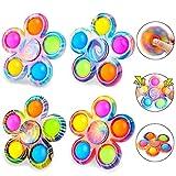 SCIONE Pop Fidget Spinner Toys 4 Pack, Simple...
