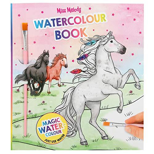 Depesche 11162 Malbuch mit magischen Wasserfarben, Miss Melody, ca. 22 x 20 x 0,5 cm