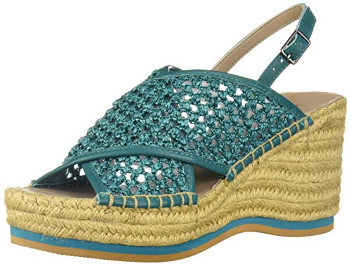 Donald J Pliner Women's Lotti-RW Espadrille Wedge Sandal, Dark Teal, 10 B US