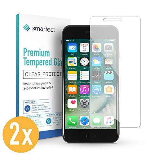 smartect Beschermglas compatibel met iPhone 8 Plus / 7 Plus [2 stuks] - screen protector met 9H hardheid - bubbelvrije beschermlaag - antivingerafdruk kogelvrije glasfolie