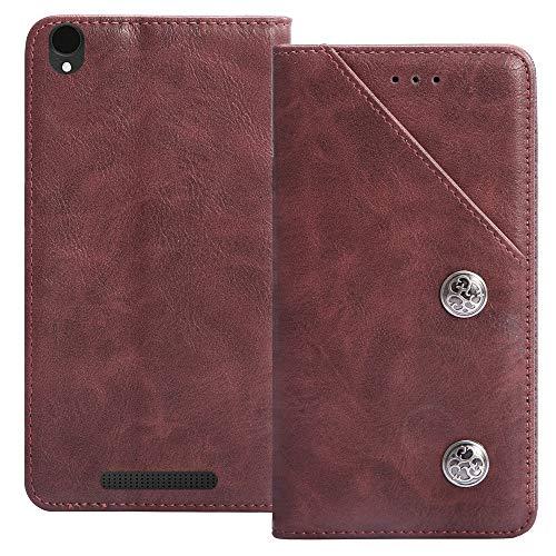 YLYT Flip Rot Schutz Hülle Hülle Für Archos Core 55 4G 5.5 inch Etui Leder Tasche Handyhülle Hochwertiges Stoßfeste Kartenfach Cover