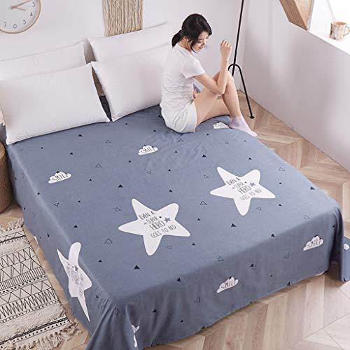 Hotethhy 1-delige katoenen spreien All-Season beddengoed, eenpersoons slaapzaal voor twee studenten katoenen overtrek (60 x 82,7 inch)