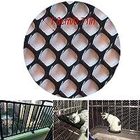 """安全ネット 多目的な用途のネット 階段ネット 防護ネット 子供 転落防止網 1.8 CM(0.71"""" )、ブラック:ネッティングチキンネットガーデンネッティング、Apertureの繁殖猫の保護ネットプラスチックフェンスネットバルコニーセーフティネット家禽 怪我防止 危険防止 簡単設置 丈夫 取り付けバンド付属 (Color : Black, Size : 1.5x10m)"""