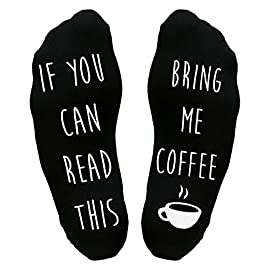 Bring Me Coffee Sole Socks Funny Joke Gift Idea Him Her Dad Present Father's Day