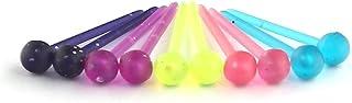 Ruifan Ball Flat انعطاف پذیر Bioplast PVC پلاستیک خالی بینی گوش پین استخوان گل میخ نیکل گوشواره های رایگان سوراخ سوراخ 20G
