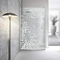 Modern Glass Art Leroy - Mampara de ducha (8 mm, cristal templado de seguridad), diseño de Leroy, blanco