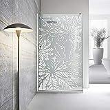 Modern Glass Art - Mampara de ducha (8 mm, cristal templado de seguridad, nanorrecubierto, acero inoxidable SS304, 100 x 195 cm), color blanco