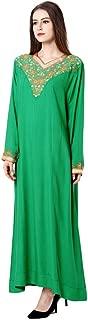 Muslim Dress Dubai Kaftan for Women Long Sleeve Long Arabic Dress Abaya Islamic Clothing Girls Caftan Jalabiya